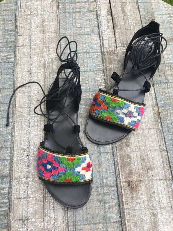 Romanian Ethernal Blue Sandals