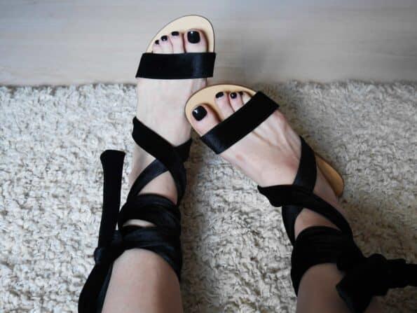 sandale catifea