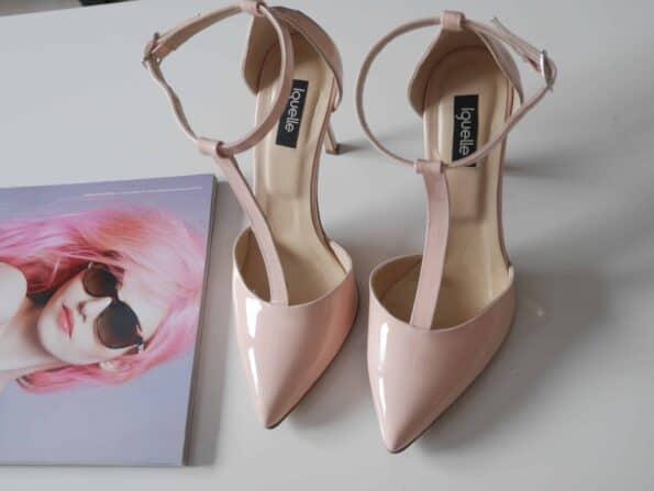pantofi stileto bej