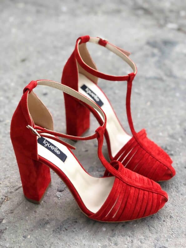 Strings Sandals Red Bold