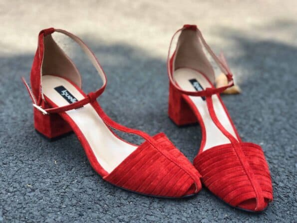 Strings Sandals Red TOC 6 CM