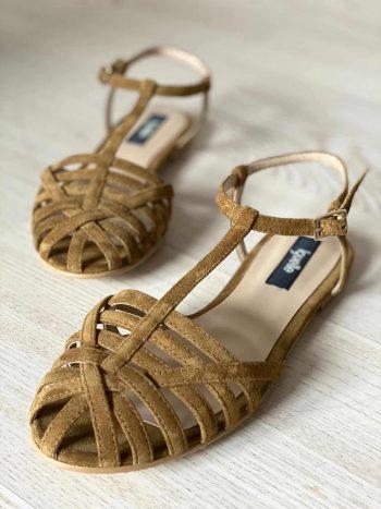 Camel Cage Sandals